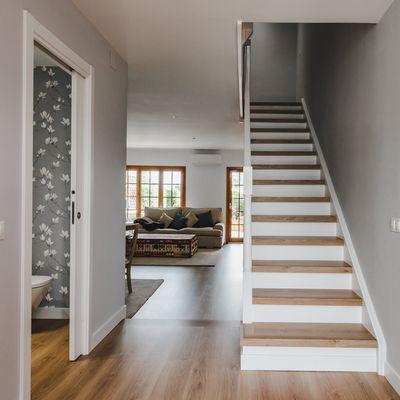 Pintar huella de la escalera