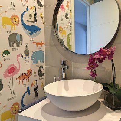 Empapelar sobre azulejos en cocina o baño