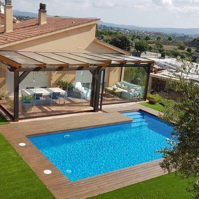 Cerramientos de terrazas con techos fijos