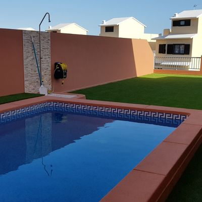 Gresite antideslizante en piscina
