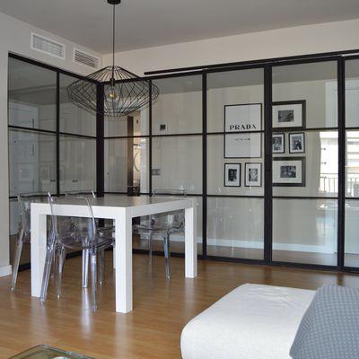 Separación de espacios con cristales