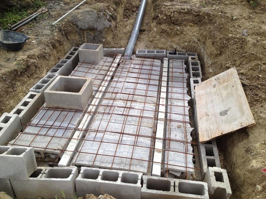 Construcción de una fosa séptica