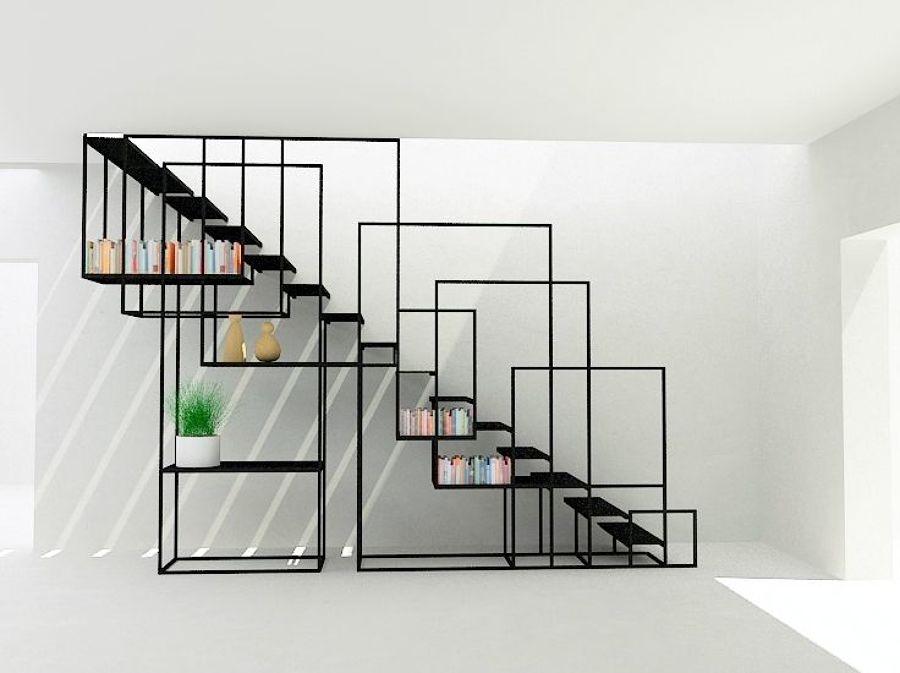 Construir escalera de hierro para el interior