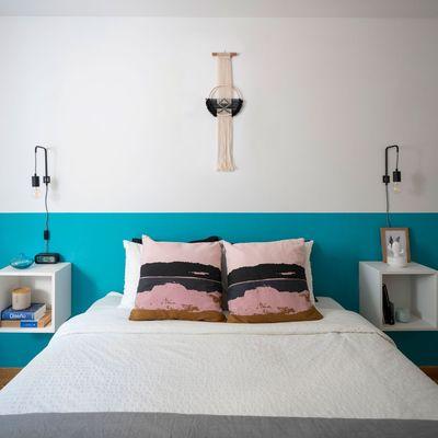 Pintar habitación con dos colores