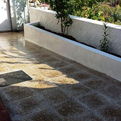 Pulir suelo de terrazo