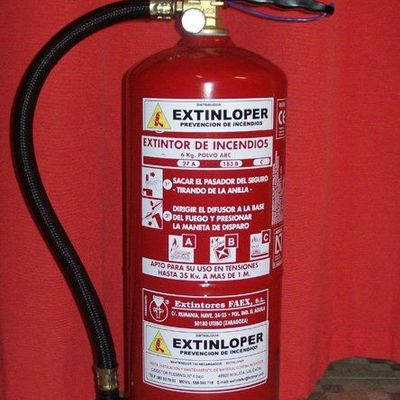 Instalación de equipos de extinción de incendios