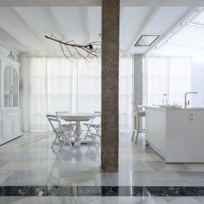Pulir suelo de mármol