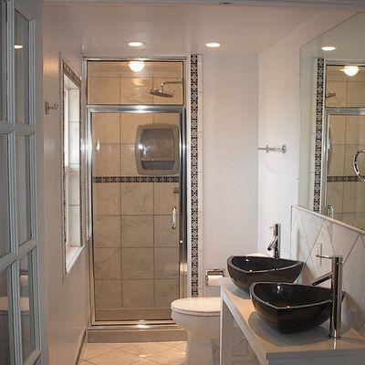 Puertas de cristal en el baño