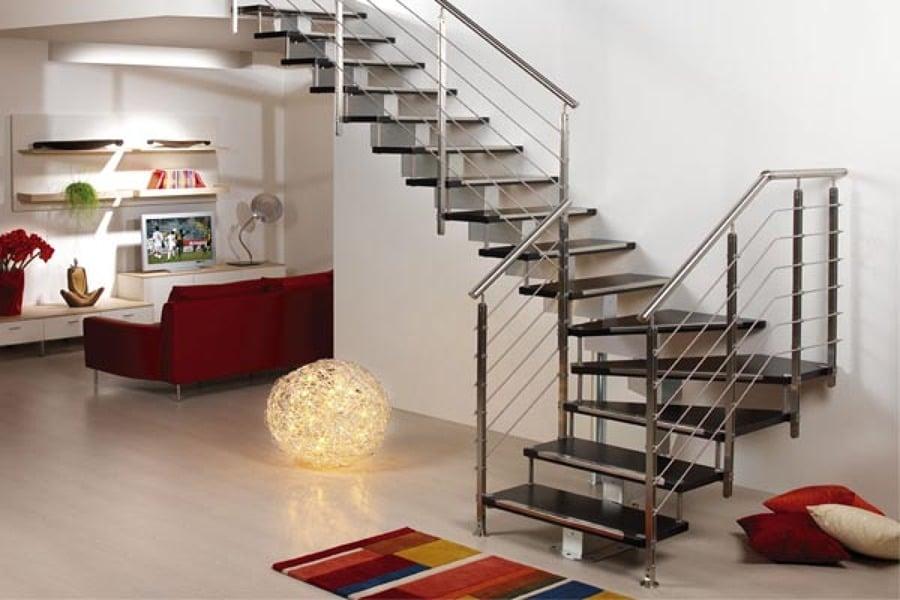 Barandas de escaleras metalicas baranda de acero for Escaleras metalicas para casa