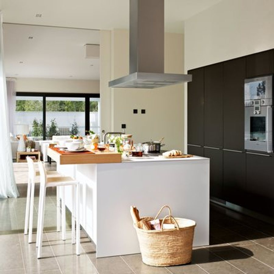 Campanas de cocinas modernas campana de cocina de acero - Campanas de cocina modernas ...