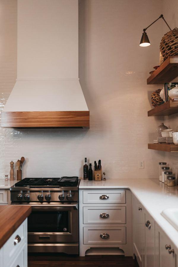 Salida de humos en una cocina