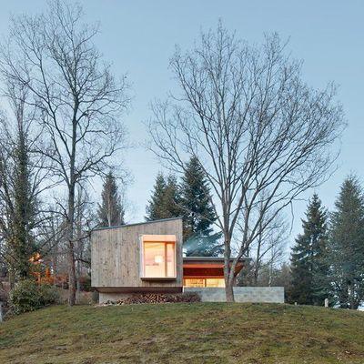 Casas de madera en árboles