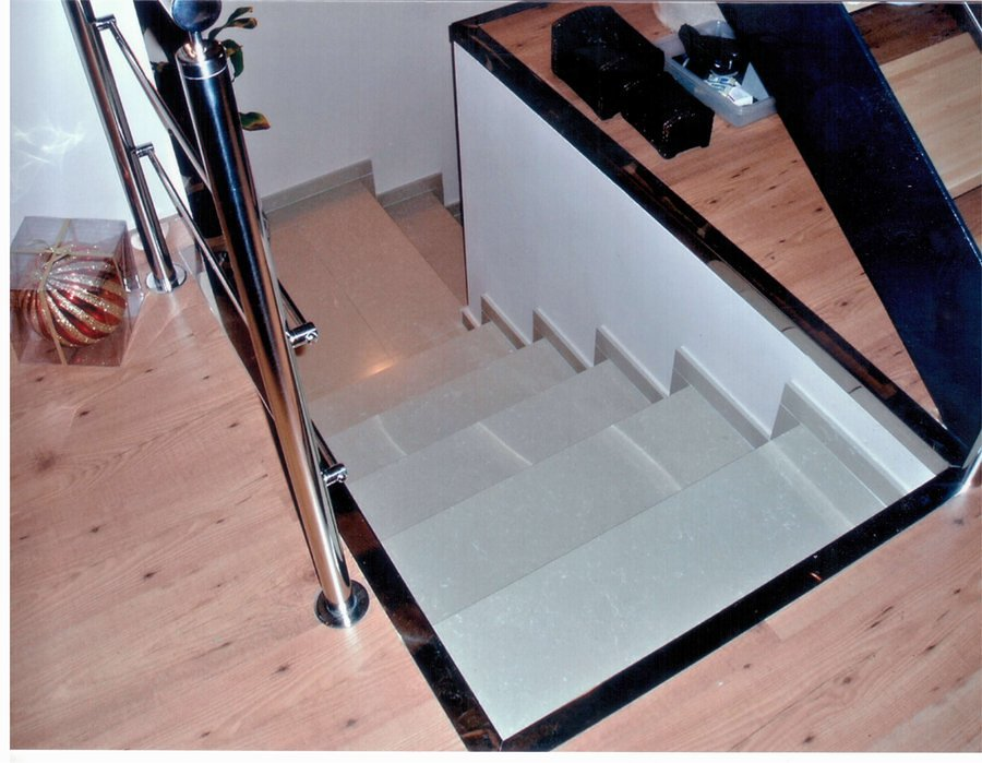 Materiales para escaleras cool escalera de madera para for Materiales para escaleras de interior