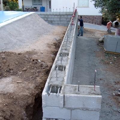Construir un muro de exterior
