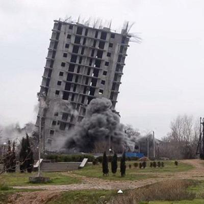 Derribo y demolición de un edificio