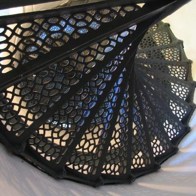 Escalera de caracol de hierro