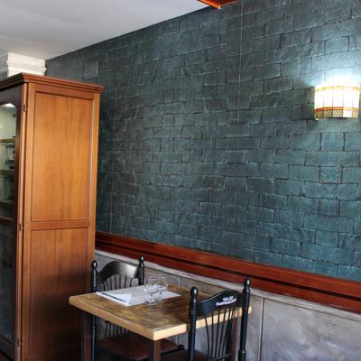 Hormigón impreso en paredes interiores