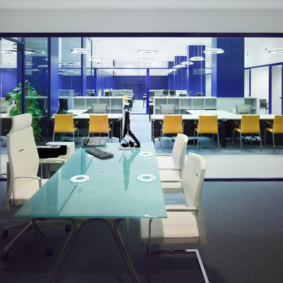 El color azul en oficinas