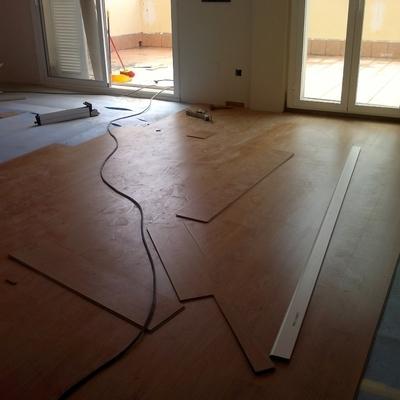 Instalación de parquet sobre suelo existente