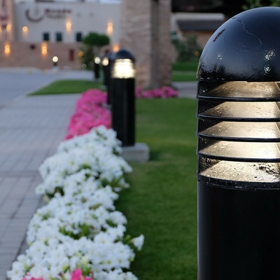 Alumbrado LED en jardines