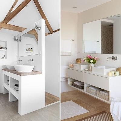 Mejoras para el almacenaje en baños