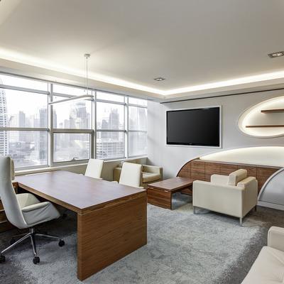 Usar muebles lisos y funcionales