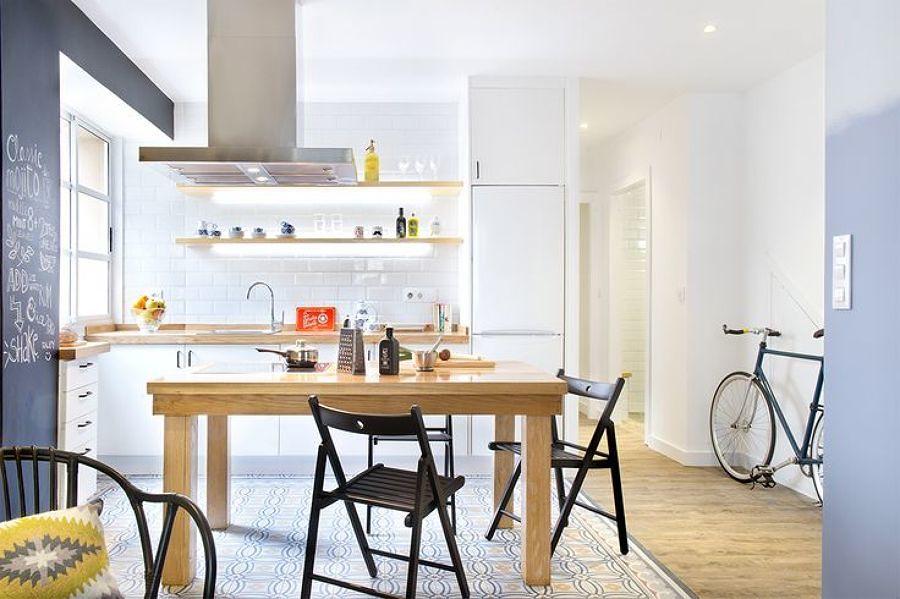 cocinas pequeas integradas en el salon