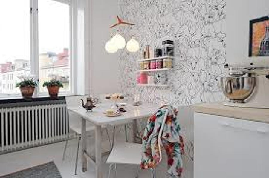 Poner papel pintado en pared great papel pintado ue with - Como quitar papel pintado de la pared ...