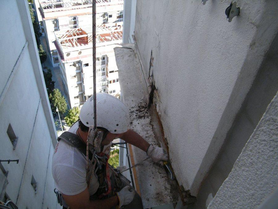Mantenimiento de edificios en altura