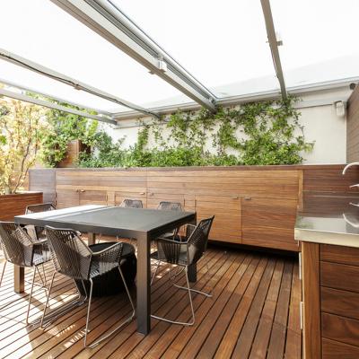 C mo cubrir una terraza ideas precios y presupuestos for Mobiliario de terraza ikea