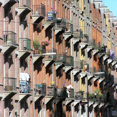 Barandillas de aluminio en balcones