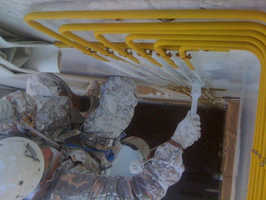 Trabajos verticales de pintura