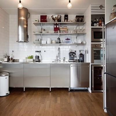 Variedad de materiales en la reforma de la cocina