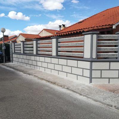 Instalar valla sobre muro