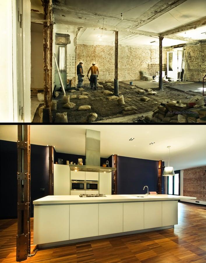 Antes y después remodelación