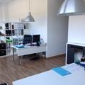 Instalación de estufa de pellets en nuestras oficinas de Pamplona