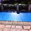 Cobertor de protección de invierno para piscinas.