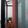 Acristalamiento de techo en perfil aluminio negro y  cristal