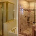 Antes y después de un baño completo