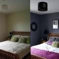 antes y despues en habitacion