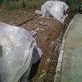 cimientos para valla terreno