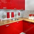 cocina roja reformada