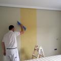 Colocacion de papel en pared de habitacion principal