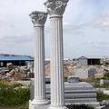 Columna de granito gris quintana
