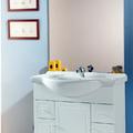 Conjunto Mueble de Baño Adelaida 80 cm. Blanco Sencillo