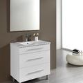 Conjunto Mueble de Baño Aris 80 cm. Tres Cajones Blanco
