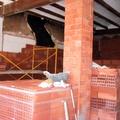 consolidando estructuralmente espacio a reformar, pilar y paredes nuevas