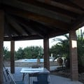 Construcción cubierta circular adosada a vivienda