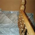 Construcción de Escaleras de mármol y barandado torneado