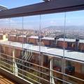 cortina de cristal y techo movil